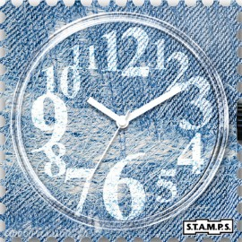 STAMPS Cadran de montre denim time