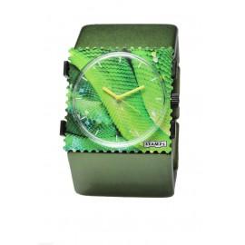 Bracelet élastique de montre Stamps belta vert métallique