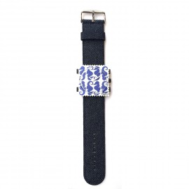Bracelet de montre Stamps bleu denim