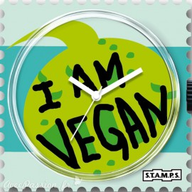Cadran de montre Stamps I am vegan