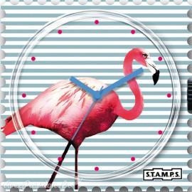 STAMPS Cadran de montre flamand rose pink flamingo