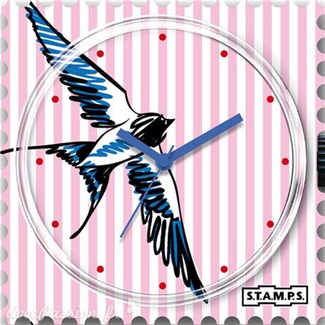 Cadran de montre Stamps swallowed stripes