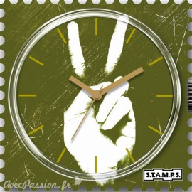 S.T.A.M.P.S. Cadran waterproof de montre green peace