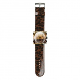 Bracelet de montre Stamps shinny leo marron