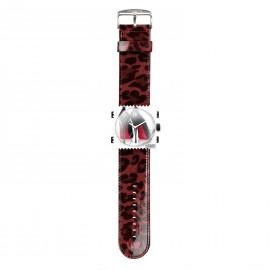 Bracelet de montre Stamps shinny leo rouge