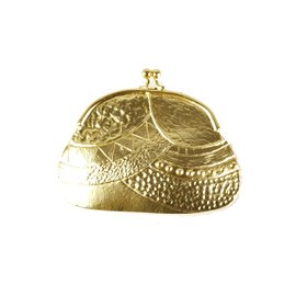 Broche Dolce Vita dorée porte monnaie