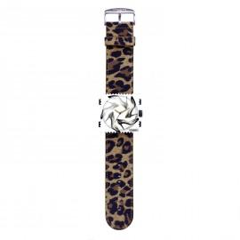 Bracelet de montre Stamps classic leo beige et marron
