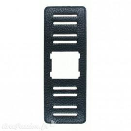 Jack de Bracelet de montre Stamps Big Jack Noir structuré