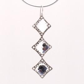 Boucles d'oreilles pendantes percées cristal strass Swaro Kenny Ma