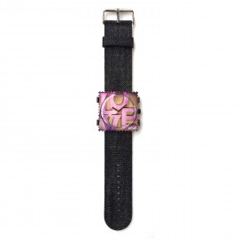 Bracelet de montre Stamps noir denim