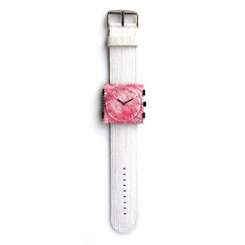 Bracelet de montre Stamps blanc denim