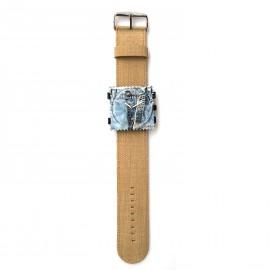 Montre Stamps bracelet de montre denim beige