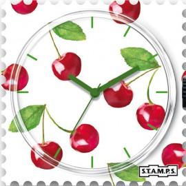 Montre Stamps cadran de montre merry cherry