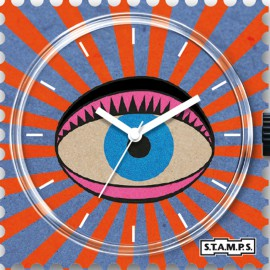 Montre Stamps cadran de montre trippy eye