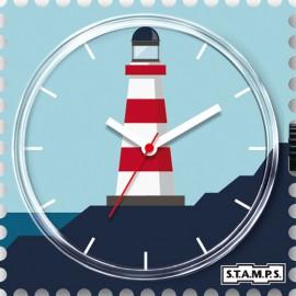 Montre Stamps cadran de montre sea light