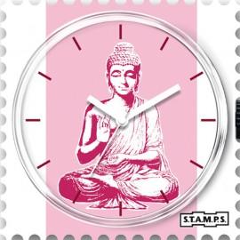 Montre Stamps cadran de montre pink buddha