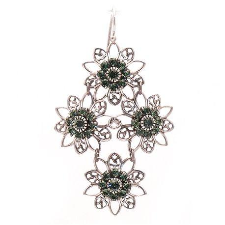 Boucles d'oreilles pendantes percées vert Kenny Ma designs