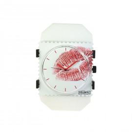 Bracelet élastique de montre Stamps belta Y blanc