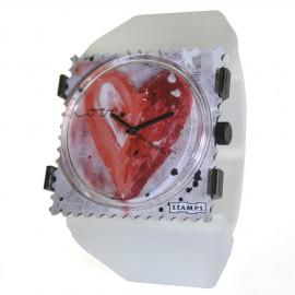Bracelet élastique de montre Stamps belta Y blanc perle