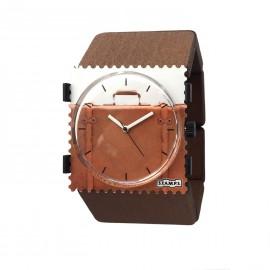 Bracelet élastique de montre Stamps en bois marron