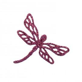 Bijou de peau Karnyx lubiany n1 libellule pailleté burgundy