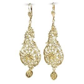 Boucles d'oreilles doré Lotta Djossou oreilles percées arabesque art nouveau