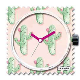 Montre Stamps cadran de montre cactus party