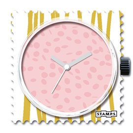 Montre Stamps cadran de montre milk shake