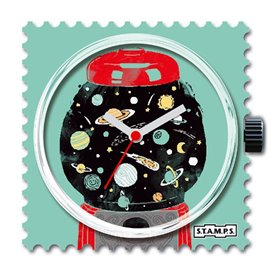Montre Stamps cadran de montre space machine