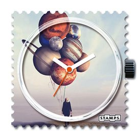 Montre Stamps cadran de montre balloon planets