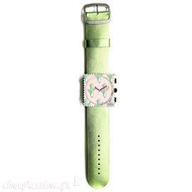 Bracelet de montre Stamps vert glitter