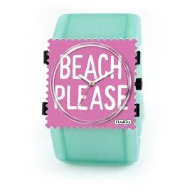 Montre Stamps bracelet de montre belta Stamps belta batik vert élastique