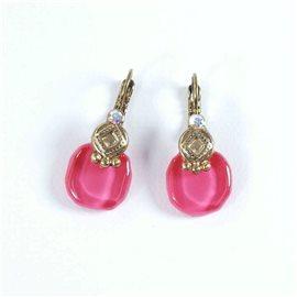 Boucles d'oreilles rose percées Nathalie Borderie