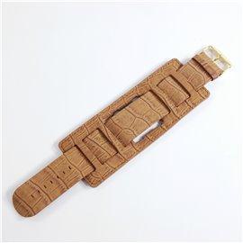 Jack de Bracelet de montre Stamps marron effet peau de croco Jack Rough