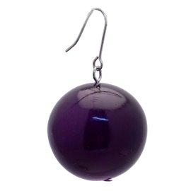Boucles d'oreilles fantaisie violet dormeuses bijou de créateur