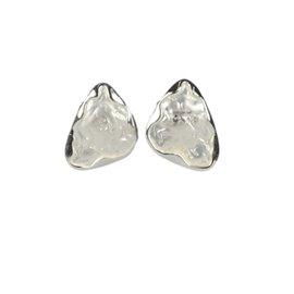 Boucles d'oreilles Cheny's oreilles percées argent martelé