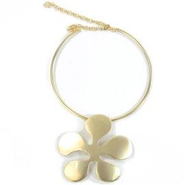 Torque Dolce Vita doré médaillon fleur 5 pétales