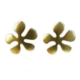 Boucles d'oreilles percées Dolce Vita fleur dorée