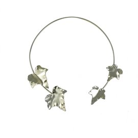 Torque Dolce Vita argent médaillon fleur 5 pétales