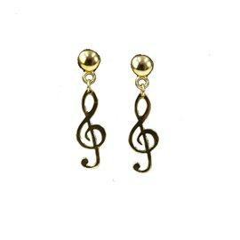 Boucles d'oreilles Dolce Vita percées dorée note de musique
