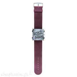 Bracelet de montre Stamps violet Jack rough
