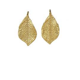 Boucles d'oreilles Cheny's oreilles percées feuilles dorées