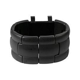 Bracelet élastique de montre Stamps belta alpha noir