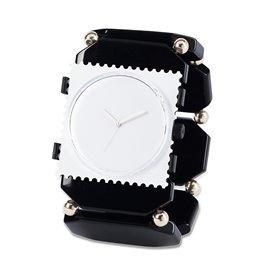 Bracelet élastique de montre Stamps belta bead noir argent