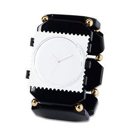 Bracelet élastique de montre Stamps belta bead noir or
