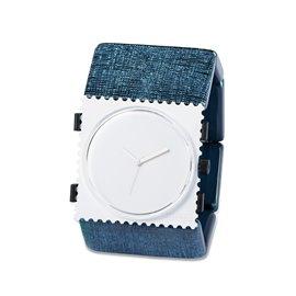 Bracelet élastique de montre Stamps belta bleu structuré