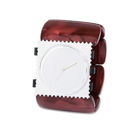 Bracelet élastique de montre Stamps belta rouge nacré ovale
