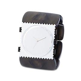 Bracelet élastique de montre Stamps belta doré nacré ovale