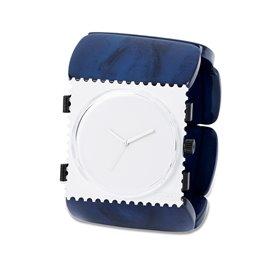 Bracelet élastique de montre Stamps belta bleu nacré ovale