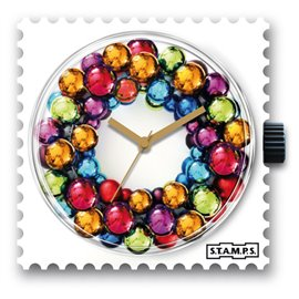 Cadran de montre Stamps colourful circle